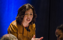 Dodie Gomer speaking at the 2014 NAEM Forum