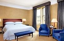King Bedroom at Sheraton Gunter Hotel in San Antonio Texas